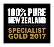 100% Pure New Zealand Gold Specialist 2017
